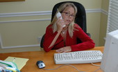 Amber at Home Sexy Secretary Amber Lynn Bach Amber At Work, Glasses, Short Skirt, Nylons, Phone...Everything Her Co-Workers Need To Get Through The Day!