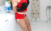 Amber at Home Doing Laundry House Work Has Never Been So Sexy! Amber Does Her Laundry But Since Hubby Shows Up She Might As Well Clean His Pipes Too. There'S A X Rated Video That Goes Along With This Sexy Set.