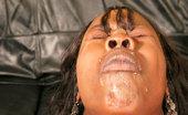 Ebony Cum Dumps Panther Black Pole Smoker Takes A Salty Shot Of Sperm