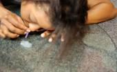 Ebony Cum Dumps Anastasia Anastasia Snorts Cum Like A Ho