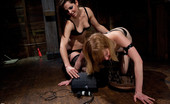 Electro Sluts Mallory visits Electrosluts receiving pleasure and pain, but in the end her electrically stimulated body becomes my plaything as she eats out my ass!