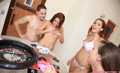 Spicy Roulette A Group Of 7 Amateurs Playing Spicy Roulette Game Outdoors