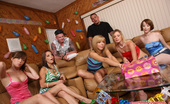 Spicy Roulette Naughty Teens Playing Adult Thruth Or Dare At Birthday Party