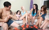 Spicy Roulette Sexy Teens Play Sex Roulette To Win A Huge Cock