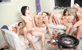 Spicy Roulette Six Hot 18yo Girls Fucking Two Lucky Studs