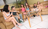 Spicy Roulette Four Sexy Teens Having Sex Party At Home!