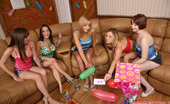Spicy Roulette A Group Of Sexy Guys And Girls Playing Truth Or Dare
