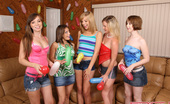 Spicy Roulette A Group Of Amateur Teens Playing Truth Or Dare At Birthday Party