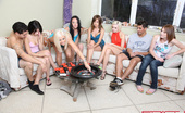 Spicy Roulette Crazy Group Sex Orgy With SIX Teen Girls!