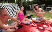 Spicy Roulette Outdoor College Party Turns Into Orgy After Strip Poker