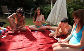 Spicy Roulette Outdoor Strip Poker Game Turns Into A Raunchy Fuck Session
