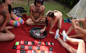 Spicy Roulette Naked Amateur College Grads Have Fun Outdoors