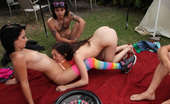 Spicy Roulette College Student In Fine Fucking Action Outdoors