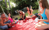 Spicy Roulette Real American Teens Organize Amateur Sex Game Party