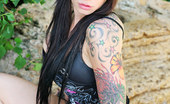 Dirty Diablos Taylor Skyee Oday We Welcome The Newest Addition To The Ink'D Roster, Taylor Skyee. Taylor Has Some Great Artwork On Her, Rocking A Full Sleeve Of Tats With Some Vivid Color. Taylor Skyee Is An Ink'D-Up Drilldo Queen - Dirty Diablos