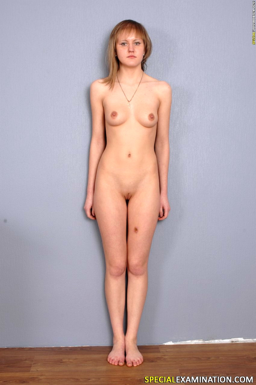 Doctor inspects her female patient naked 9