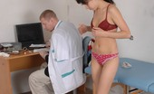 Special Examination Ashamed Bare Cutie And Pushy Male Doc