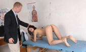 Special Examination Nude Examinee Passing A Few Gymnastics Tests