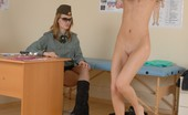 Special Examination Military Girl Does Nude Workouts At A Checkup