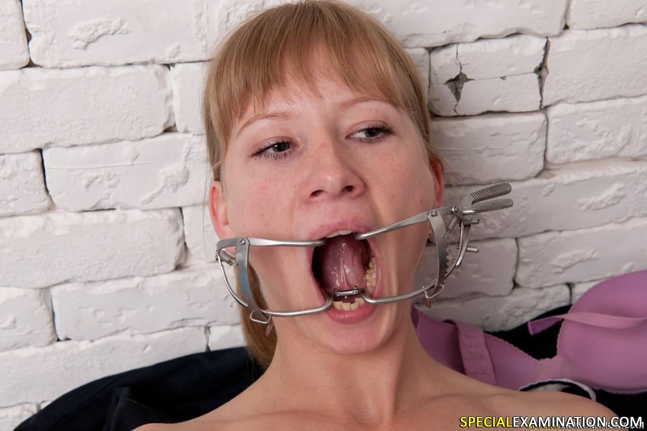 Dental mouth gag porn
