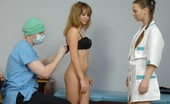 Special Examination Male Doctor Examines A Nude Babe With Nurse Help