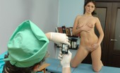 Special Examination Confused Girl Poses For A Male Gynecologist