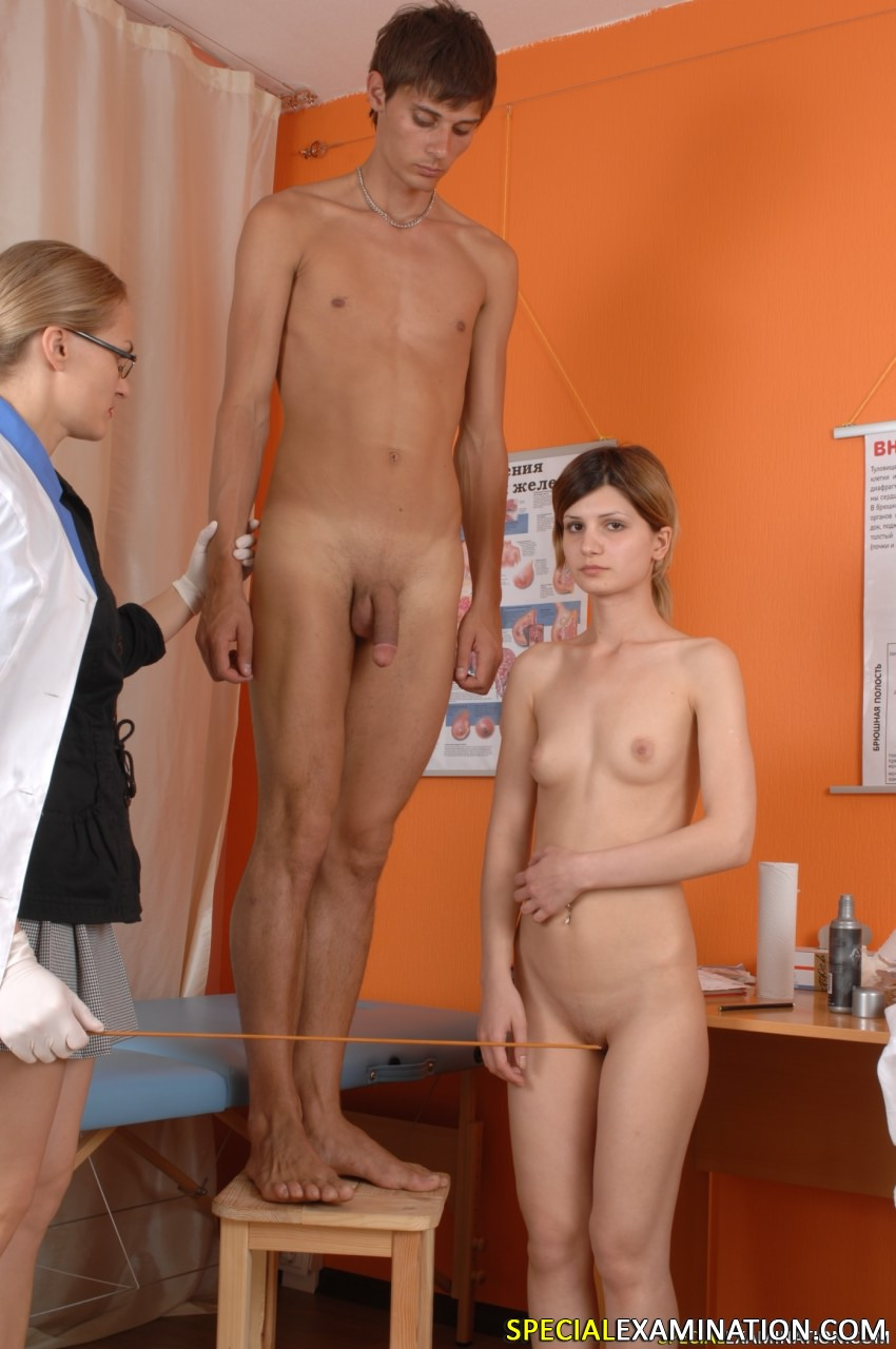 image Young couple gets special medical exam