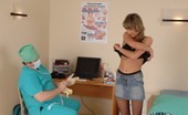Special Examination Male Doctor Checks Up A Nude Blushing Chick