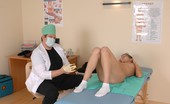 Special Examination Male Doctor Views A Nude Ponytailed Girlie