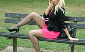 Stiletto Girl This Cheeky Blonde Babe Loves Hanging Out In Public And Showing Off Her Heels