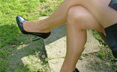 Stiletto Girl Sexy Outdoor Shoot Of A Horny Babe Showing Off Her High Heels