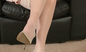 Stiletto Girl Alison Looks Gorgeous In Her Matching Long Creamy High Heels
