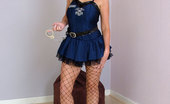 Stiletto Girl Sexy Cop Larissa Puts You Under Arrest In Her Handcuffs, Fishnets And High Heels