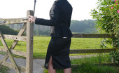 Stiletto Girl Sexy Office Girl Larissa Takes A Walk In The Countryside After A Day In The Office Still Wearing Her Suit And Shiny Black High Heels