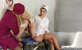 Medical Femdom Perilous Med Tests For A Nude Bond-Man