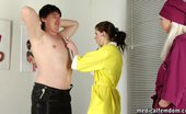 Medical Femdom Pervy Nurses Discourage A Nude Male Examinee