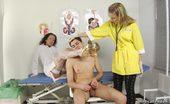Medical Femdom Jerking Guy Worships The Female Medical Legs