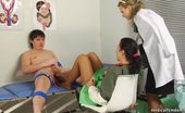 Medical Femdom Medical Domina In Stockings Teases A Wanking Guy
