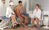 Medical Femdom Bitches In Medical Uniform Examine His Penis