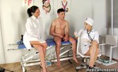 Medical Femdom Trampled By Wicked Nurses For Faster Sperm Donation