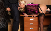 Leggy Lana Horny Lana Gets Caught Masturbating In The Office And Is Forced To Suck Dick
