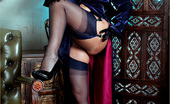 Leggy Lana Lana Wearing Stockings And Gloves As She Finger Fucks Her Own Pussy