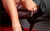 Leggy Lana Leggy Lana Teases You With Her Sexy Feet, And Then Makes You Cum As She Pleasures Herself With Dildo