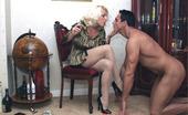 Leggy Lana Leggy Lana Smokes Her Slaves Cock Then Puts His Cock Through Her Pantyhose And Rides His Big Cock