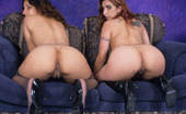 Lesbian Chunkers Dulce & Adara Chubby Arab Chicks Munching Carpet