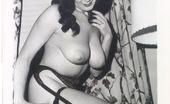 Vintage Classic Porn Hairy Vintage Voluptuous Ladies Posing In Sexy Stockings