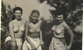 Vintage Classic Porn Several Vintage Girls Showing Their Fine Natural Bodies