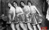 Vintage Classic Porn Several Sensual Vintage Ladies Showing It All Backstage