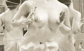 Vintage Classic Porn Several Ladies From The Fifties Bathing Very Sexy And Wet
