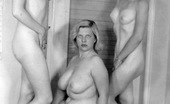 Vintage Classic Porn Multiple Sexy Vintage Ladies Posing Naked In The Fifties